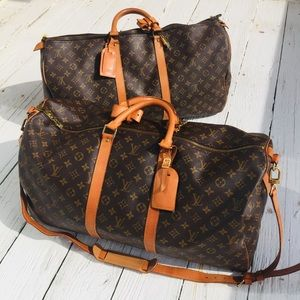 2 Louis Vuitton Keepall duffle carry on luggage 2!
